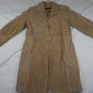 Donatella Leather Trench Coat Brand New!
